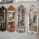 Klasik Boncuklu Model Eskitme Beyaz Renk Boy Aynası-24