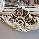 Klasik Boncuklu Model Eskitme Beyaz Renk Boy Aynası-7