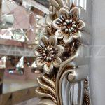 Klasik Boncuklu Model Gümüş Renk Boy Aynası-10