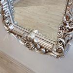 Klasik Boncuklu Model Gümüş Renk Boy Aynası-12