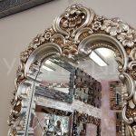 Klasik Boncuklu Model Gümüş Renk Boy Aynası-13