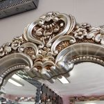 Klasik Boncuklu Model Gümüş Renk Boy Aynası-14