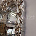 Klasik Boncuklu Model Gümüş Renk Boy Aynası-15