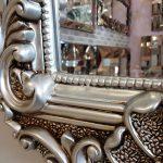 Klasik Boncuklu Model Gümüş Renk Boy Aynası-17