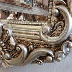 Klasik Boncuklu Model Gümüş Renk Boy Aynası-18