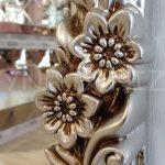 Klasik Boncuklu Model Gümüş Renk Boy Aynası-19