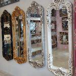 Klasik Boncuklu Model Gümüş Renk Boy Aynası-22