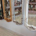 Klasik Boncuklu Model Gümüş Renk Boy Aynası-23