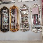 Klasik Boncuklu Model Gümüş Renk Boy Aynası-24
