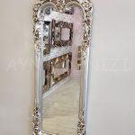 Klasik Boncuklu Model Gümüş Renk Boy Aynası-5