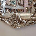 Klasik Boncuklu Model Gümüş Renk Boy Aynası-7