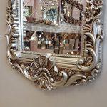 Klasik Boncuklu Model Gümüş Renk Boy Aynası-8