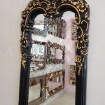 Klasik Boncuklu Model Siyah Renk Boy Aynası-10