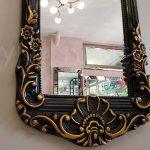Klasik Boncuklu Model Siyah Renk Boy Aynası-11