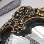 Klasik Boncuklu Model Siyah Renk Boy Aynası-12