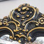 Klasik Boncuklu Model Siyah Renk Boy Aynası-13