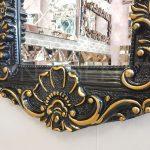 Klasik Boncuklu Model Siyah Renk Boy Aynası-14