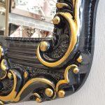 Klasik Boncuklu Model Siyah Renk Boy Aynası-16