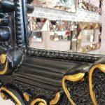 Klasik Boncuklu Model Siyah Renk Boy Aynası-18