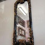 Klasik Boncuklu Model Siyah Renk Boy Aynası-4