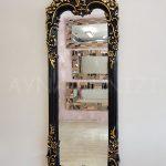Klasik Boncuklu Model Siyah Renk Boy Aynası-6