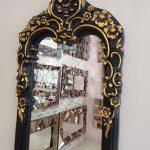Klasik Boncuklu Model Siyah Renk Boy Aynası-8