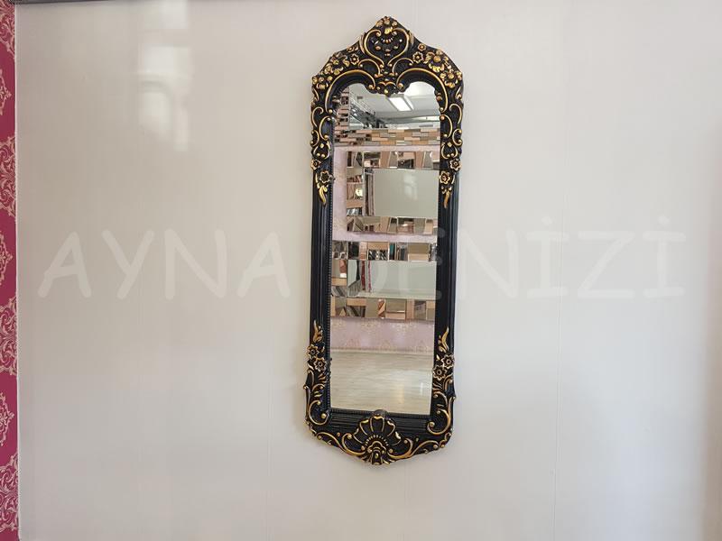 Klasik Boncuklu Model Siyah Renk Boy Aynası