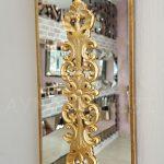 Nice Model Altın Renk Dekoratif Niş Ayna-6