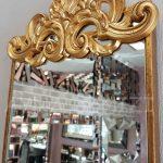 Nice Model Altın Renk Dekoratif Niş Ayna-7