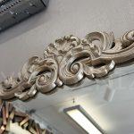 Nice Model Gümüş Renk Dekoratif Niş Ayna-11