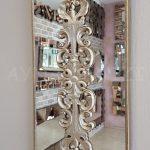 Nice Model Gümüş Renk Dekoratif Niş Ayna-6