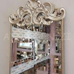 Nice Model Gümüş Renk Dekoratif Niş Ayna-8