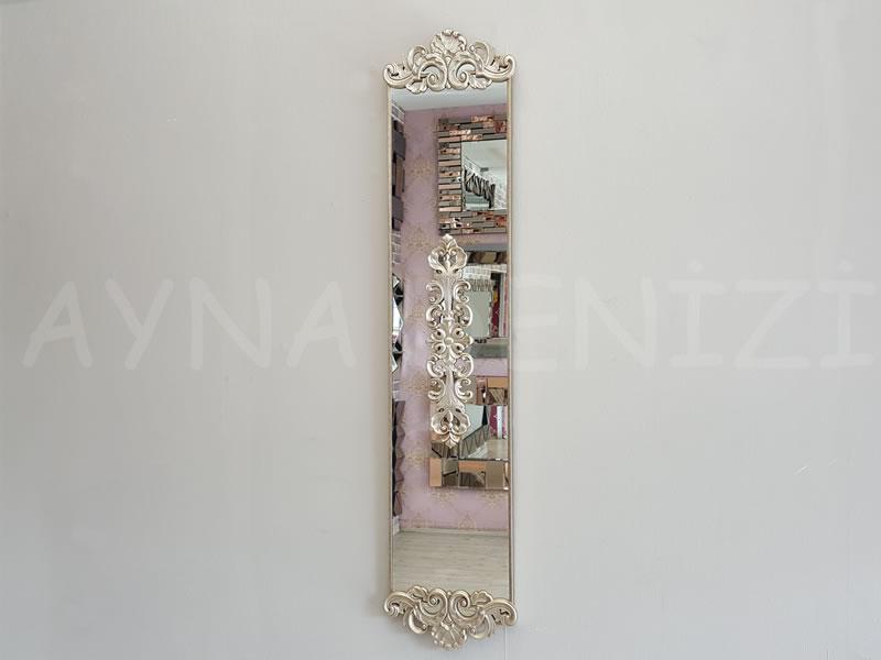 Nice Model Gümüş Renk Dekoratif Niş Ayna