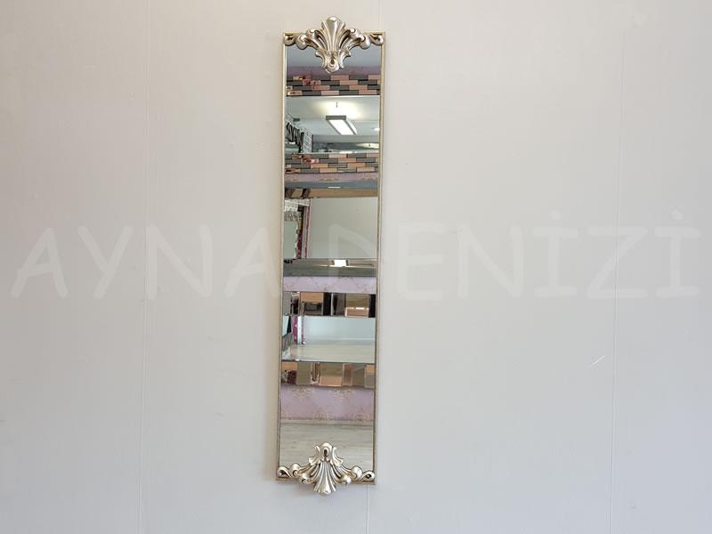 Paris Model Gümüş Renk Dekoratif Niş Ayna