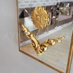 Vanetta Model Altın Renk Dekoratif Niş Ayna-11