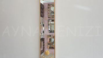 Vanetta Model Altın Renk Dekoratif Niş Ayna
