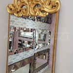 Vanetta Model Altın Renk Dekoratif Niş Ayna-7