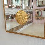 Venedik Model Altın Renk Dekoratif Niş Ayna-11