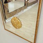 Venedik Model Altın Renk Dekoratif Niş Ayna-12