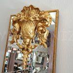 Venedik Model Altın Renk Dekoratif Niş Ayna-6