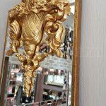 Venedik Model Altın Renk Dekoratif Niş Ayna-9