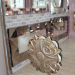 Venedik Model Gümüş Renk Dekoratif Niş Ayna-11