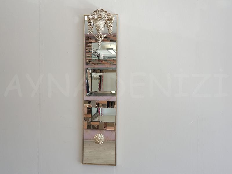 Venedik Model Gümüş Renk Dekoratif Niş Ayna