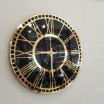 Golden Black Model Altın Siyah Renk Dekoratif Aynalı Duvar Saati-1