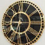 Golden Black Model Altın Siyah Renk Dekoratif Aynalı Duvar Saati-16