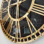Golden Black Model Altın Siyah Renk Dekoratif Aynalı Duvar Saati-17