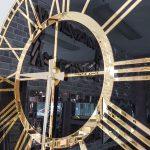 Golden Black Model Altın Siyah Renk Dekoratif Aynalı Duvar Saati-18