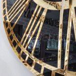 Golden Black Model Altın Siyah Renk Dekoratif Aynalı Duvar Saati-19
