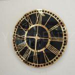 Golden Black Model Altın Siyah Renk Dekoratif Aynalı Duvar Saati-2