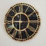 Golden Black Model Altın Siyah Renk Dekoratif Aynalı Duvar Saati-3